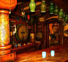 Inside The Green Dragon - Hobbiton, New Zealand by Nicola Barnard