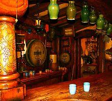Inside The Green Dragon - Hobbiton, New Zealand by Nicola Barnard