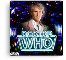 Doctor Who 50th Anniversary - Fifth Doctor Canvas Print