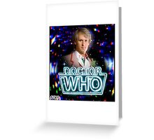 Doctor Who 50th Anniversary - Fifth Doctor Greeting Card
