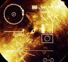 Cool Voyager Golden Record Iphone case by hooluwan