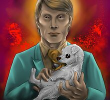 Hannibal and a puppy by Furiarossa