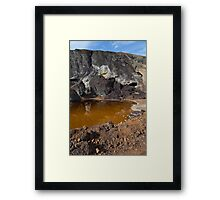 acidic waters in pyrite smelting landfill Framed Print