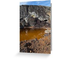 acidic waters in pyrite smelting landfill Greeting Card