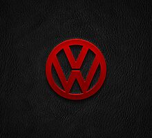 Volkswagen logo red by TheGearbox