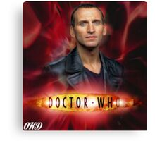 Doctor Who 50th Anniversary - Ninth Doctor Canvas Print