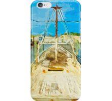 Shrimp Boat Under Repair Abstract Impressionism iPhone Case/Skin