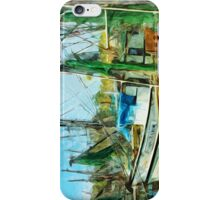Shrimp Boats at the Pier Abstract Impressionism iPhone Case/Skin