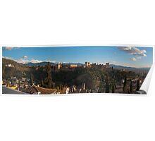 Alhambra in Granada, Spain Poster