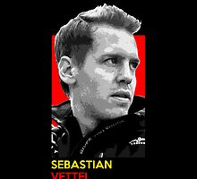Sebastian Vettel - national flag colors by TheGearbox
