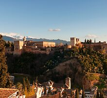 Alhambra in Granada, Spain by paulrommer