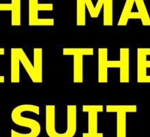 The Man in the Suit sticker alternative Sticker