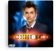 Doctor Who 50th Anniversary - Tenth Doctor Canvas Print
