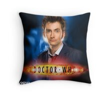 Doctor Who 50th Anniversary - Tenth Doctor Throw Pillow