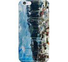 Seward Harbor Alaska Abstract Impressionism 3 iPhone Case/Skin