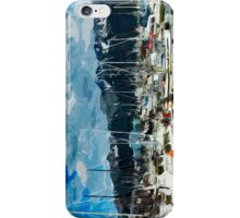 Seward Harbor Alaska Abstract Impressionism 3 iPhone Case/Skin