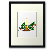Candle and Holly Framed Print