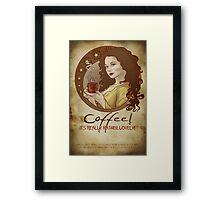Coffee Propaganda Framed Print