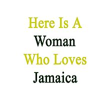 Here Is A Woman Who Loves Jamaica  Photographic Print