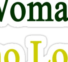 Here Is A Woman Who Loves Jamaica  Sticker