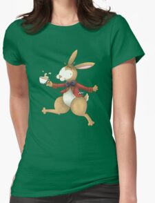 The Frolocking March Hare Womens Fitted T-Shirt
