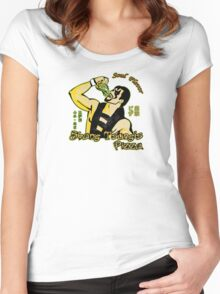 Shang Tsung's Pizza Women's Fitted Scoop T-Shirt