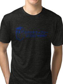 Studio Wibbly: Blue Varient  Tri-blend T-Shirt