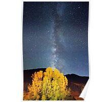 Milky Way October Sky Poster