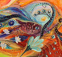 Original painting fragment 78 by Elena Kotliarker