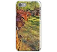 Rusty Old Cars and Trucks 3 Abstract Impressionism iPhone Case/Skin