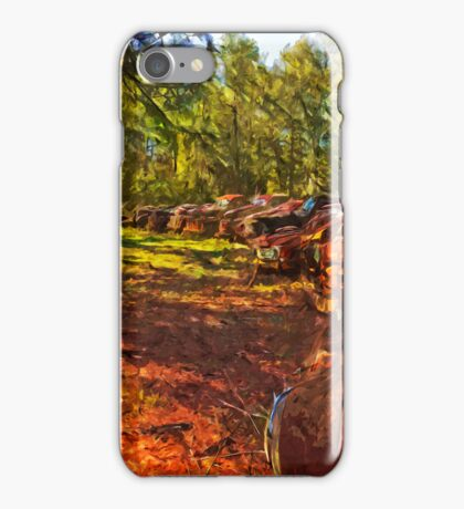Rusty Old Cars and Trucks 2 Abstract Impressionism iPhone Case/Skin