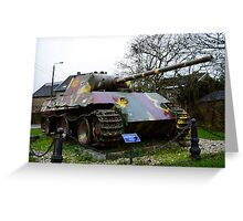WWII German Panzer Tank Greeting Card