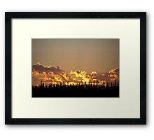 Fire in the Sky - Saskatchewan Framed Print