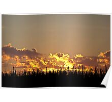 Fire in the Sky - Saskatchewan Poster