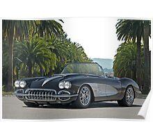 1958 Corvette 'Retro' Roadster Poster