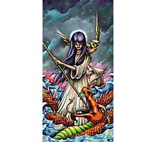Woman Slaying a Sea Serpent Photographic Print