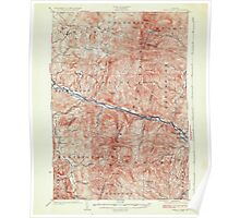 USGS Topo Map  Vermont VT Camels Hump 337907 1924 62500 Poster