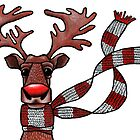 rudolph the red nosed reindeer by BizarreBunny