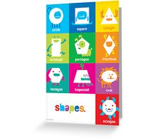 Monster Shapes Poster for Kindergarten Classrooms  Greeting Card