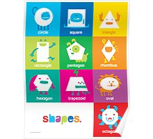 Monster Shapes Poster for Kindergarten Classrooms  Poster