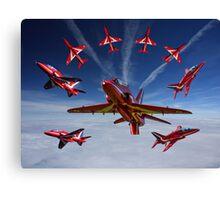 The RAF Red Arrows Canvas Print