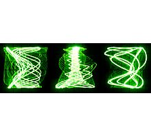 Oscilloscope Vortex Triptych Photographic Print