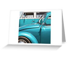 Two Turquoise VWs Greeting Card
