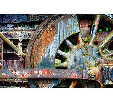 Locomotive Wheel Photographic Print
