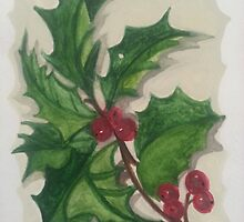 Holly with Red Berries by SoaringSpirit