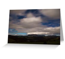 Mt Roland by Moonlight Greeting Card