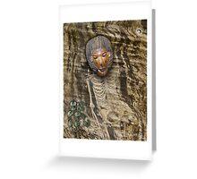 igbo shaman Greeting Card