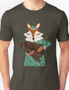 Blue eyes fox Unisex T-Shirt