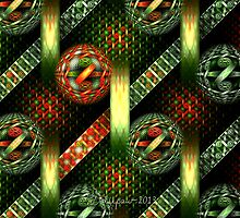 Tiled Tube Christmas Ornaments by wolfepaw