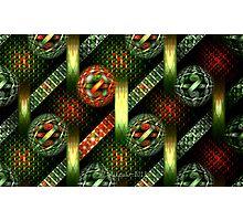 Tiled Tube Christmas Ornaments Photographic Print
